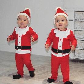 ホビー コスプレ 変装・仮装 コスチューム一式 長袖 シャツ パンツ 帽子 セット クリスマス サンタ ベビー 子供 男の子 女の子 ニューボーンフォト サンタ4号 Qup