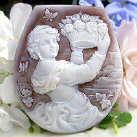 Ciro Accanito作 シェルカメオルース【ギリシャ神話 花の女神フローラ】