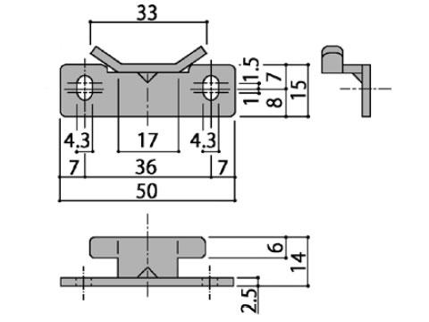 ロックピン受け たて軸回転窓用 不二サッシ HA3580NN