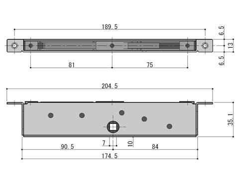 下部連動締まり(受け側) 開き・たてすべり出し窓用 不二サッシ LO5381NN