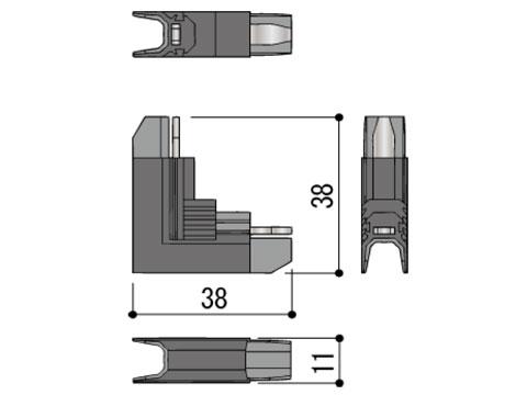 コーナーブロック たて軸回転窓用 不二サッシ WP4190ZO