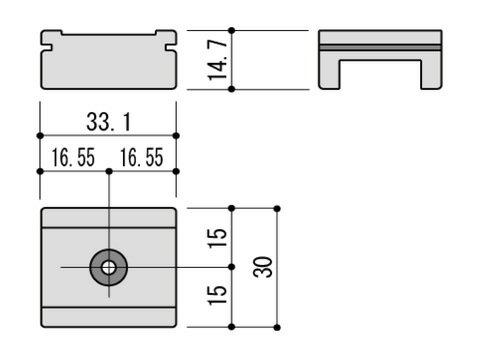 【メール便選択可】 外れ止め 引違い窓用 不二サッシ ビル用 WH5480ZN