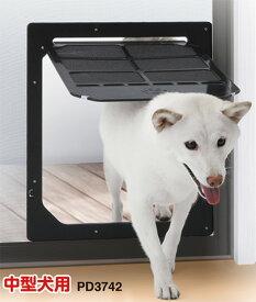網戸専用 タカラ産業 犬猫出入口 【L・縦34cm×横31cm】 中型犬用【メーカー取り寄せ品】