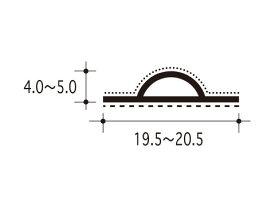 【ピンチブロック】 #12-PS スライドピンチブロック 【両面テープ付 2.2メートル】【メーカー取り寄せ品】