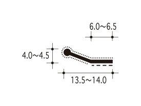 【ピンチブロック】 #38-ES スライドピンチブロック 【両面テープ付 2メートル】【メーカー取り寄せ品】
