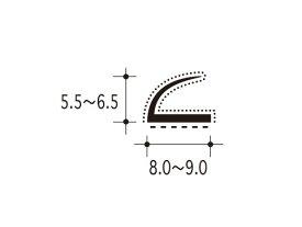 【ピンチブロック】 #7-ES スライドピンチブロック 【両面テープ付 2メートル】【メーカー取り寄せ品】