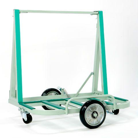 【送料無料】ガラス・サッシ等運搬用台車 ポータブルEVタイプ200kg積日本ベンリー ポニー PONY【代引不可】