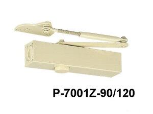 ドアチェック ニュースター P-7001LZ-90/120 アイボリホワイト パラレル型 ストップなし ドアクローザー 日本ドアーチェック アングルブラケット (L) 【メーカー取り寄せ品】