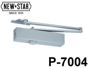 ドアチェック ニュースター P-7004AK ホワイト パラレル型 ストップなし ドアクローザー 日本ドアーチェック 段付ブラケット+段付アーム (AK) 【メーカー取り寄せ品】