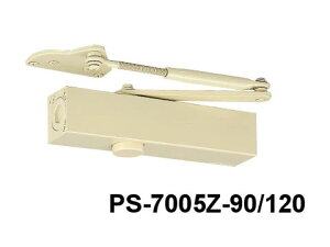 ドアチェック ニュースター PS-7005LZ-90/120 ホワイト パラレル型 ストップ付 ドアクローザー 日本ドアーチェック アングルブラケット(L) 【メーカー取り寄せ品】