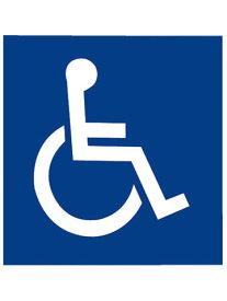 【ネコポス選択可】サインプレート 身障者マーク 神栄ホームクリエイト SK-15S-BW 青地に白【メーカー取り寄せ品】