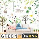 ウォールステッカー 木 葉 観葉植物 【スペシャルグリーン選べる3枚セット】 貼ってはがせる 賃貸OK 壁シール 壁 シー…