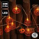ガーランド ライト ハロウィン LED LEDライト かぼちゃ 電飾 イルミネーション 電池式 【 ファニーパンプキン 】 点滅…