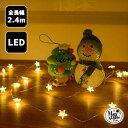 LED 【リトルスター】星 星型 ワイヤーライト ジュエリーライト 室内用 イルミネーション 電池式 点滅なし 20球 200cm…