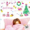 ウォールステッカー クリスマス 飾り 【ピンキーナイトクリスマス・アウトレット】 50×70cm シール 壁 壁紙 クリスマ…