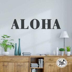 送料無料 ウォールステッカー おしゃれ ALOHA aloha モノトーン 英字 北欧 受注生産 hawaii ハワイ ハワイアン 英文 英文字 1m 転写式 貼ってはがせる 賃貸OK 白黒 アルファベット 玄関 トイレ スタイリッシュ 新生活 かわいい かっこいい 海外風 メール便
