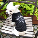 【ゴシックTシャツ】 ペアルックもできる♪ 犬服 犬 服 好き 名入れ 名前入り 名前入れ 刺繍 夏 おしゃれ Tシャツ 半袖 Tシャツ 小型犬…