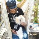 【クマペアTシャツ】 愛犬とお揃いペアルック ペットとおそろい ペア 飼い主 犬服 犬 服 好き 名入れ 名前入り 名前入れ 刺繍 夏 おし…