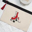 【ローラースケートクラッチポーチ】ポーチ クラッチバッグ ペンライトケース ケース 名入れ 名前入り プレゼント ギフト おしゃれ 誕…