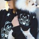 【クマペアパーカー】犬服 犬 服 好き 名入れ 名前入り 名前入れ 愛犬とお揃いペアルック 秋冬 おしゃれ かわいい パーカーセット パー…