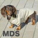 犬と生活 レインパーカー ベージュ (犬用レインコート) MDS (犬用レインコート・カッパ) #w-090067-07-20