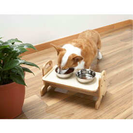 ドギーマン DOGgyMan ウッディーダイニング M (犬用の 食器 餌皿)犬用・猫用 食器 餌皿台 トレー #w-100204-03-00