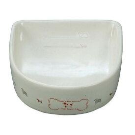 ペティオ [Petio] 犬用陶器 食器 餌皿 メモリ付 ボーンM M #w-101422-03-00