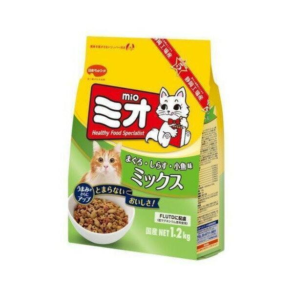【最大350円offクーポン】[ミオ]Mio キャットフード ドライ ミオ ドライミックス まぐろ味 成猫用 1.2kg [国産][正規品] #w-104831