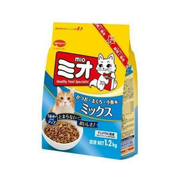 【最大350円offクーポン】[ミオ]Mio キャットフード ドライ ミオ ドライミックス かつお味 成猫用 1.2kg [国産][正規品] #w-104832