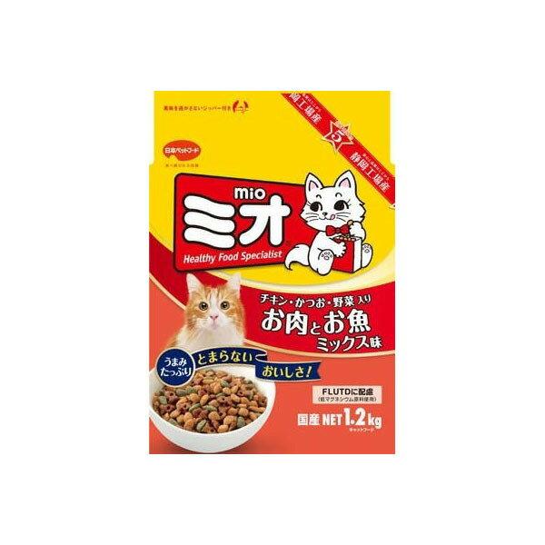 【最大350円offクーポン】日本ペットフード ミオドライミックス お肉とお魚ミックス味 1.2kg #w-114208