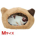【あす楽】スーパーキャット ぬくふかハウス猫型 M ブラウン×ブラウンチェック 4973640006328 #w-143571-00-00