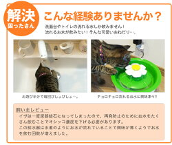 ジェックス[GEX]catit[キャトイット]フラワーファウンテン自動給水器/花びら花猫用給水機水水飲み花おしゃれかわいいキャティットJAN:4972547924728#w-147250-00-00