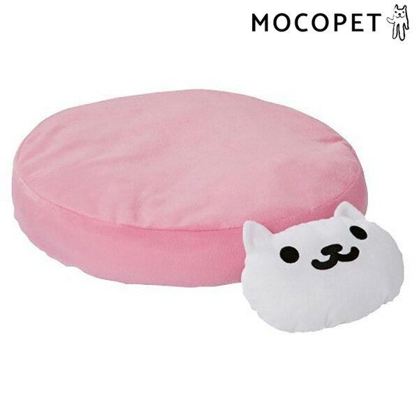 【あす楽】[ペティオ]Petio ねこあつめ あごまくら付 クッション ピンク しろねこさん 猫用ベッド 4903588252570 #w-149595