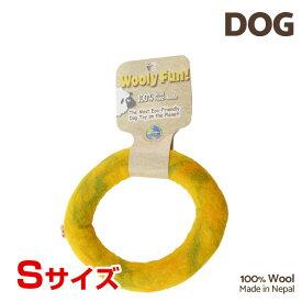 【7/26まで!マラソンSALE開催中☆】【あす楽】[ウーリーファン]Wooly Fun!! リング 5 イエローマーブル Sサイズ ウール おもちゃ 犬用 コスゲ 734663860854 w-154211-00-00