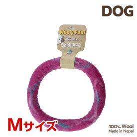 【7/26まで!マラソンSALE開催中☆】【あす楽】[ウーリーファン]Wooly Fun!! リング 7 マジェンタマーブル Mサイズ ウール おもちゃ 犬用 コスゲ 734663860311 w-154216-00-00