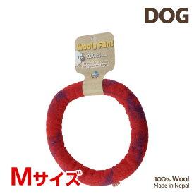 【7/26まで!マラソンSALE開催中☆】【あす楽】[ウーリーファン]Wooly Fun!! リング 7 レッドマーブル Mサイズ ウール おもちゃ 犬用 コスゲ 734663861226 w-154219-00-00