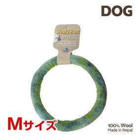【7/26まで!マラソンSALE開催中☆】【あす楽】[ウーリーファン]Wooly Fun!! リング 7 グリーンマーブル Mサイズ ウール おもちゃ 犬用 コスゲ 734663860298 w-154220-00-00