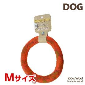 【7/26まで!マラソンSALE開催中☆】【あす楽】[ウーリーファン]Wooly Fun!! リング 7 オレンジマーブル Mサイズ ウール おもちゃ 犬用 コスゲ 734663860304 w-154221-00-00