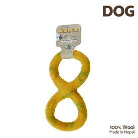【7/26まで!マラソンSALE開催中☆】【あす楽】[ウーリーファン]Wooly Fun!! FIGURE 8 TUG イエローマーブル ウール おもちゃ 犬用 コスゲ 734663860335 w-154223-00-00