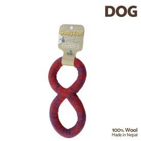 【7/26まで!マラソンSALE開催中☆】【あす楽】[ウーリーファン]Wooly Fun!! FIGURE 8 TUG レッドマーブル ウール おもちゃ 犬用 コスゲ 734663861257 w-154225-00-00