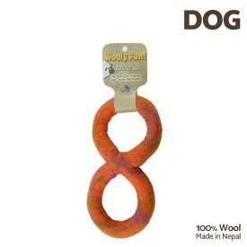 【7/26まで!マラソンSALE開催中☆】【あす楽】[ウーリーファン]Wooly Fun!! FIGURE 8 TUG オレンジマーブル ウール おもちゃ 犬用 コスゲ 734663861264 w-154226-00-00