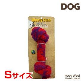 【7/26まで!マラソンSALE開催中☆】【あす楽】[ウーリーファン]Wooly Fun!! KNOTTED BONES 4.5 レッド Sサイズ ウール おもちゃ 犬用 コスゲ 734663850121 w-154236-00-00