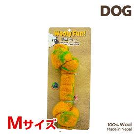 【7/26まで!マラソンSALE開催中☆】【あす楽】[ウーリーファン]Wooly Fun!! KNOTTED BONES 6.5 イエロー Mサイズ ウール おもちゃ 犬用 コスゲ 734663850145 w-154238-00-00