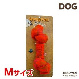 【7/26まで!マラソンSALE開催中☆】【あす楽】[ウーリーファン]Wooly Fun!! KNOTTED BONES 6.5 オレンジ Mサイズ ウール おもちゃ 犬用 734663850169 w-154240-00-00