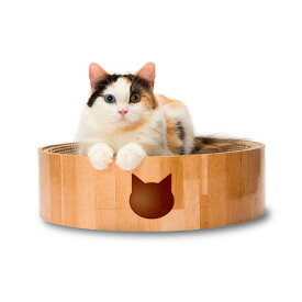 猫壱 バリバリボウル 猫柄 爪とぎベッド 爪とぎ ダンボール 4580471863435 #w-155197-00-00