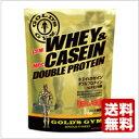 GOLD'S GYM(ゴールドジム)ホエイ&カゼインダブルプロテイン(2kg)バニラ風味【送料無料】