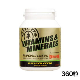 GOLD'S GYM(ゴールドジム)マルチビタミン&ミネラル 360粒【送料無料】