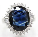 【Ring】リング指輪PT900S6.03ctD0.65ct12号総重量11.4gダイヤモンド天然ブルーサファイア宝石刻印【中古】