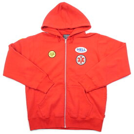 【supreme】シュプリーム HYSTERIC GLAMOUR Patches Zip Up Sweatshirt Red 赤 ヒステリックグラマー ジップパーカー 2017AW FW17SW47 未使用品【中古】