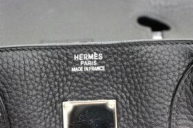 【HERMES】エルメスショルダーバーキントリヨンクレマンス□J刻印2006年製ブラックシルバー金具【中古】